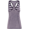 Icebreaker Sprite Tank Women silk heather/burgundy heather/stripe